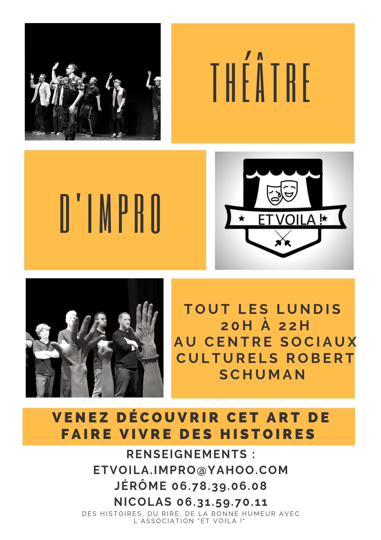 Atelier de Théâtre D'improvisation