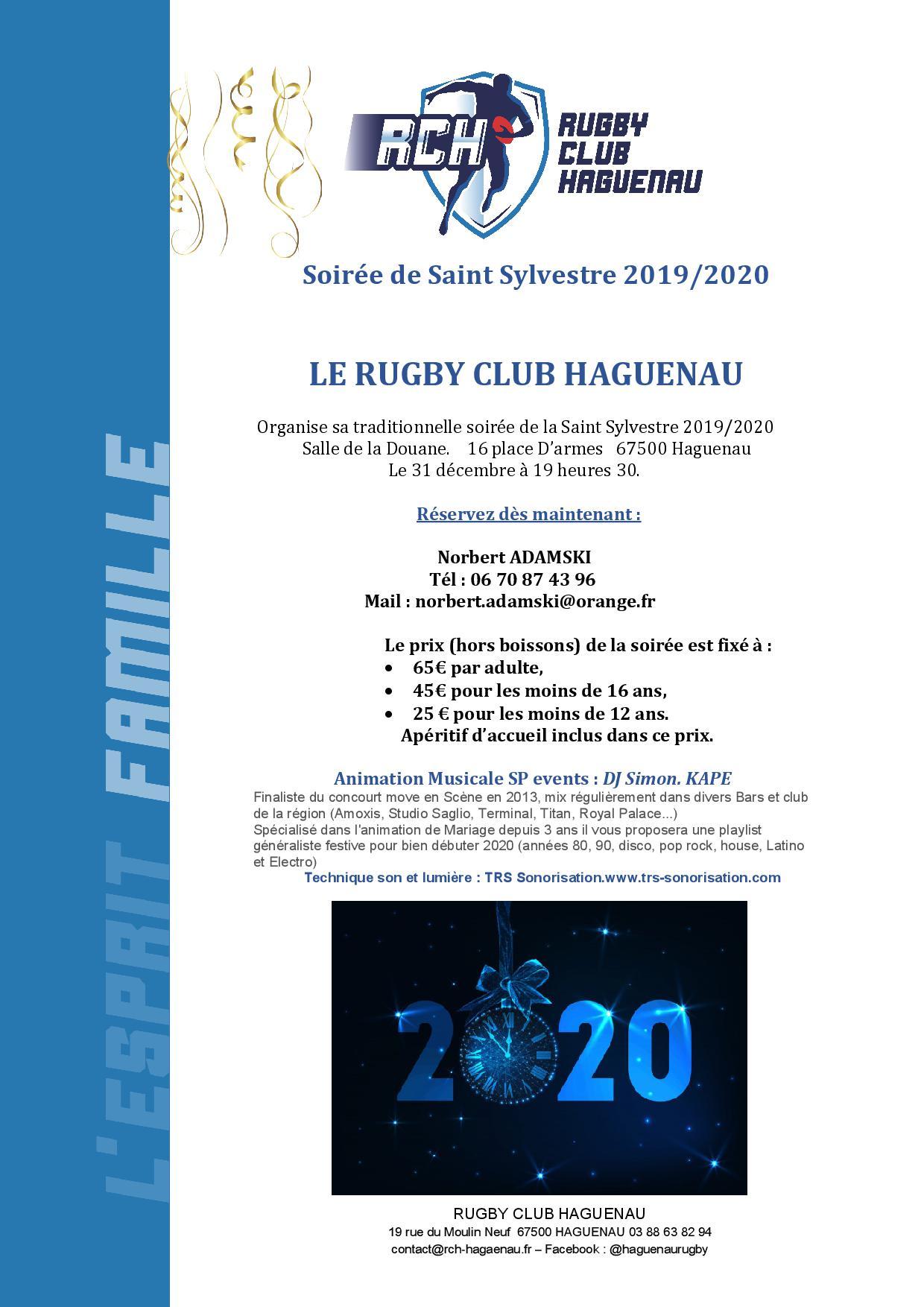 Soirée dansante de Nouvel An - Rugby Club