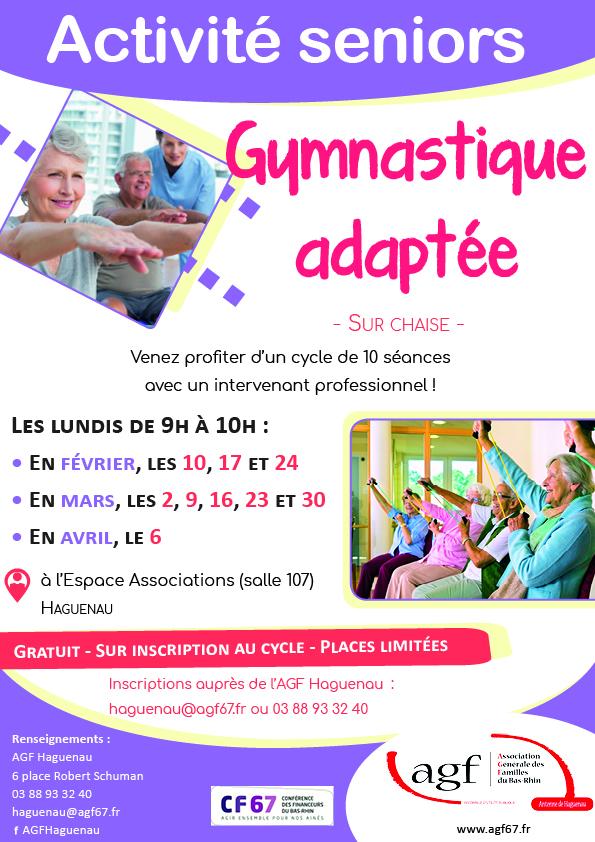 Cours de gymnastique pour seniors