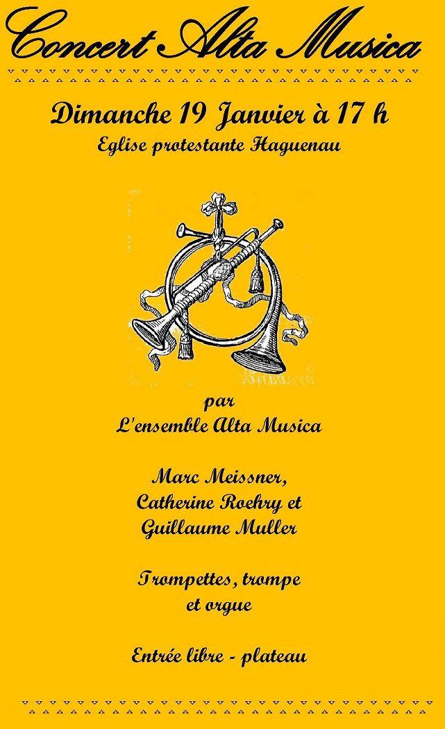 Concert trompette, trompes et orgue