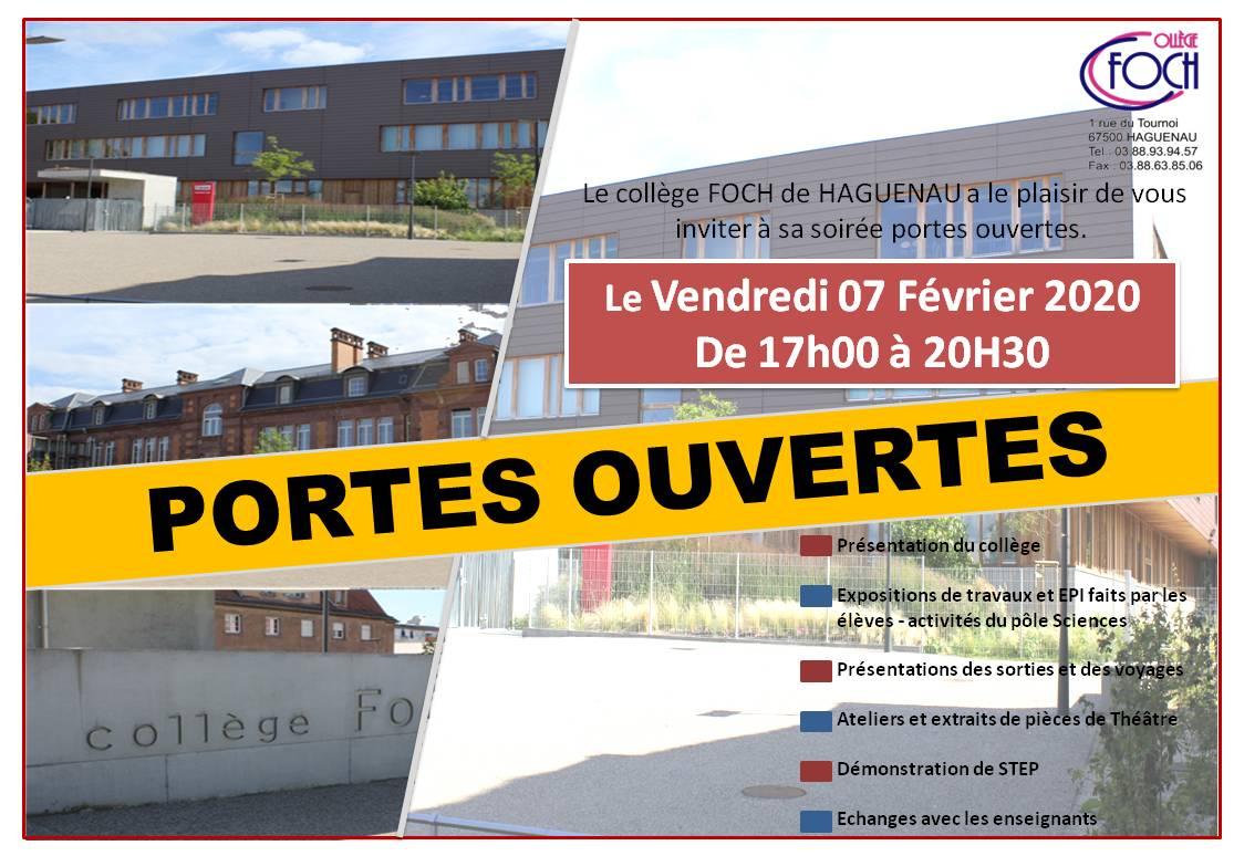 Soirée Portes Ouvertes du Collège Foch de Haguenau