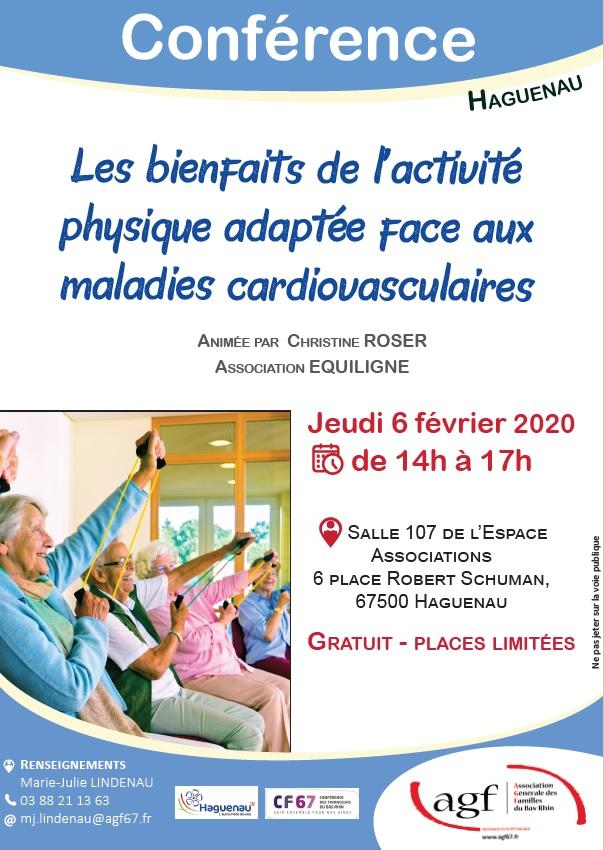"""Conférence Séniors """"Les bienfaits de l'activité physique face aux maladies cardiovasculaires"""""""