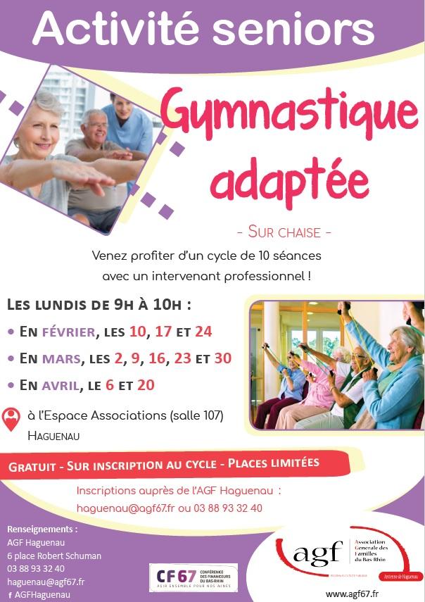 Séniors - Cycle de 10 séances de Gym sur Chaise - Gratuit