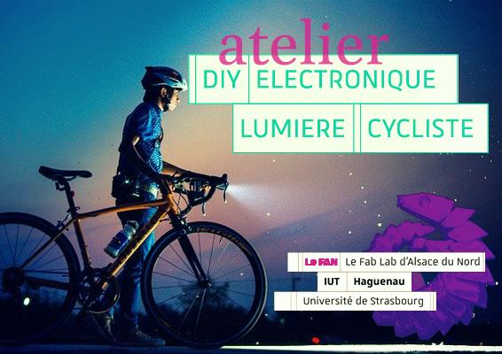 Fabrique ta lumière pour te faire voir en vélo.