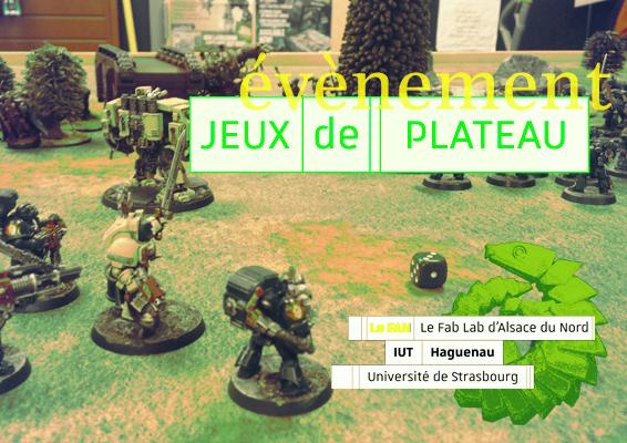 Soirée jeux de plateau au FabLab !