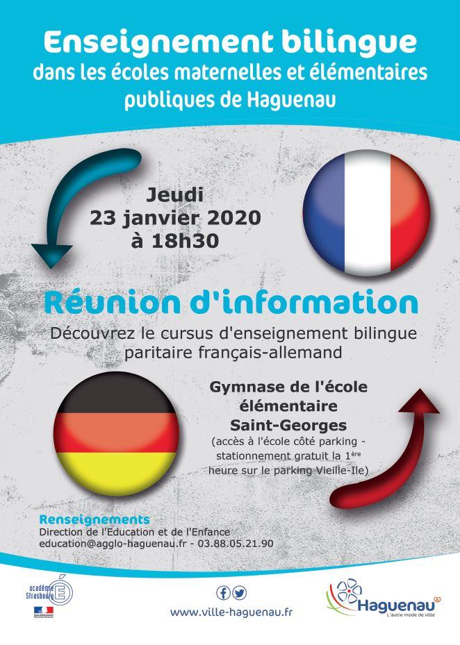 Réunion d'information enseignement bilingue