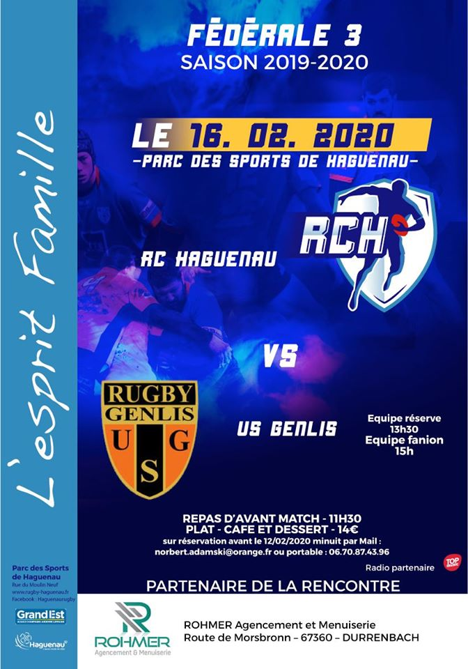 Rugby Club Haguenau Vs US Genlis