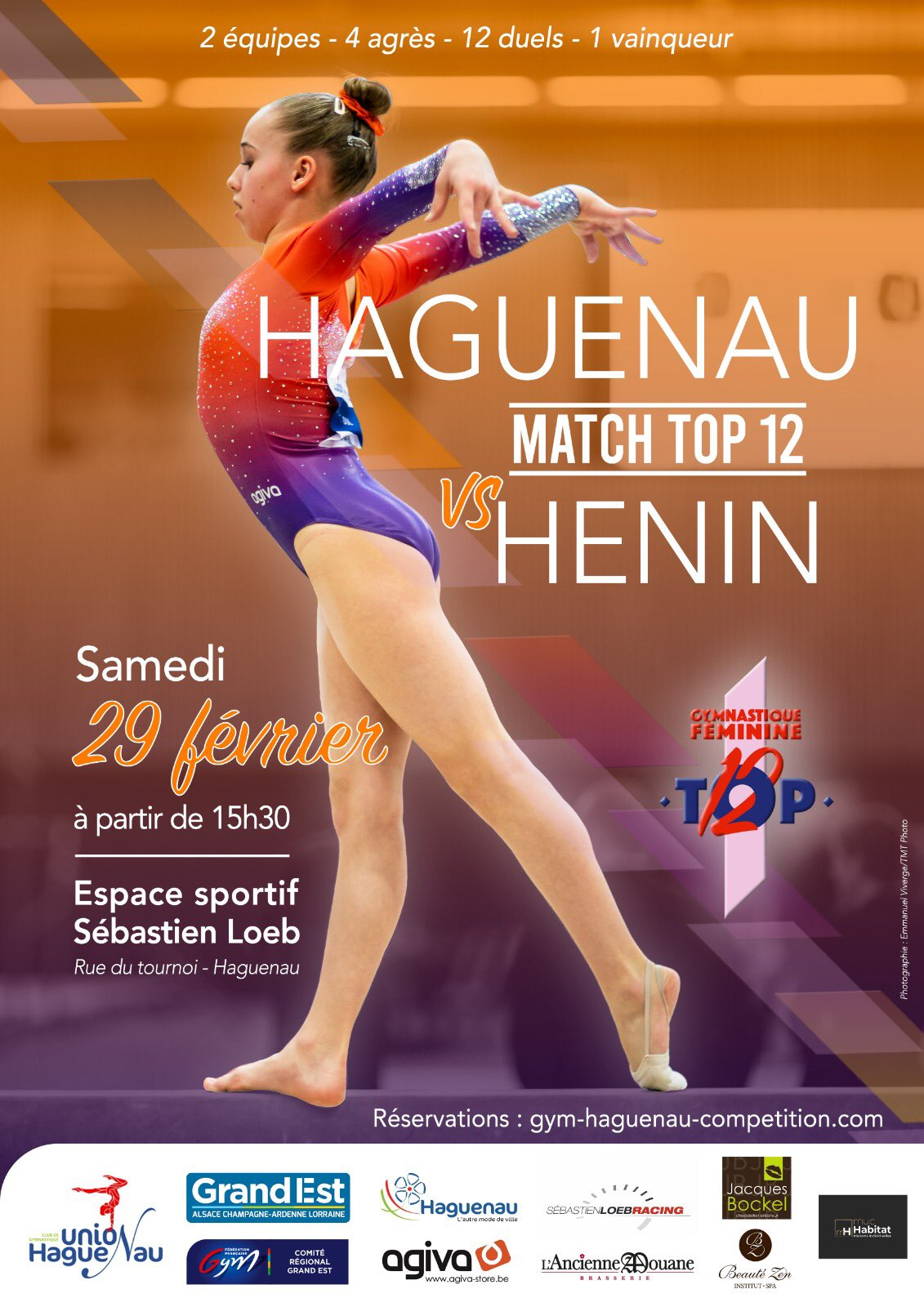 Gymnastique féminine Top 12 Haguenau Vs Henin