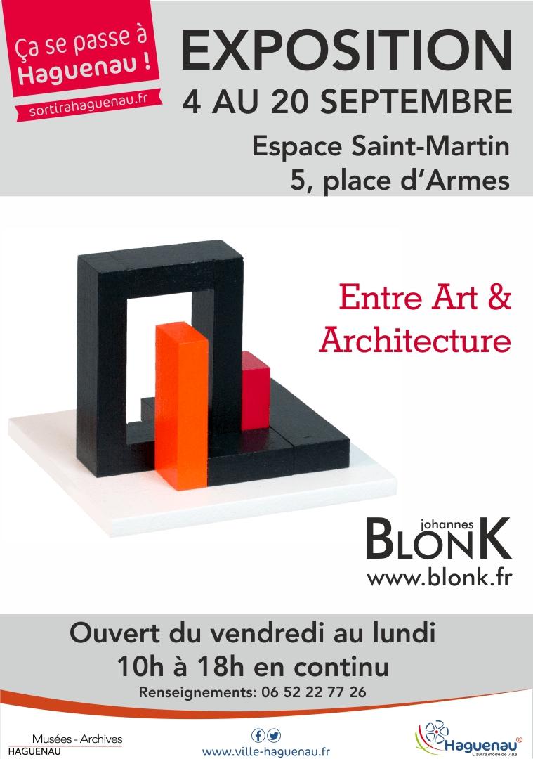 Visite de l'exposition « Entre Art et Architecture » de Johannes BlonK.