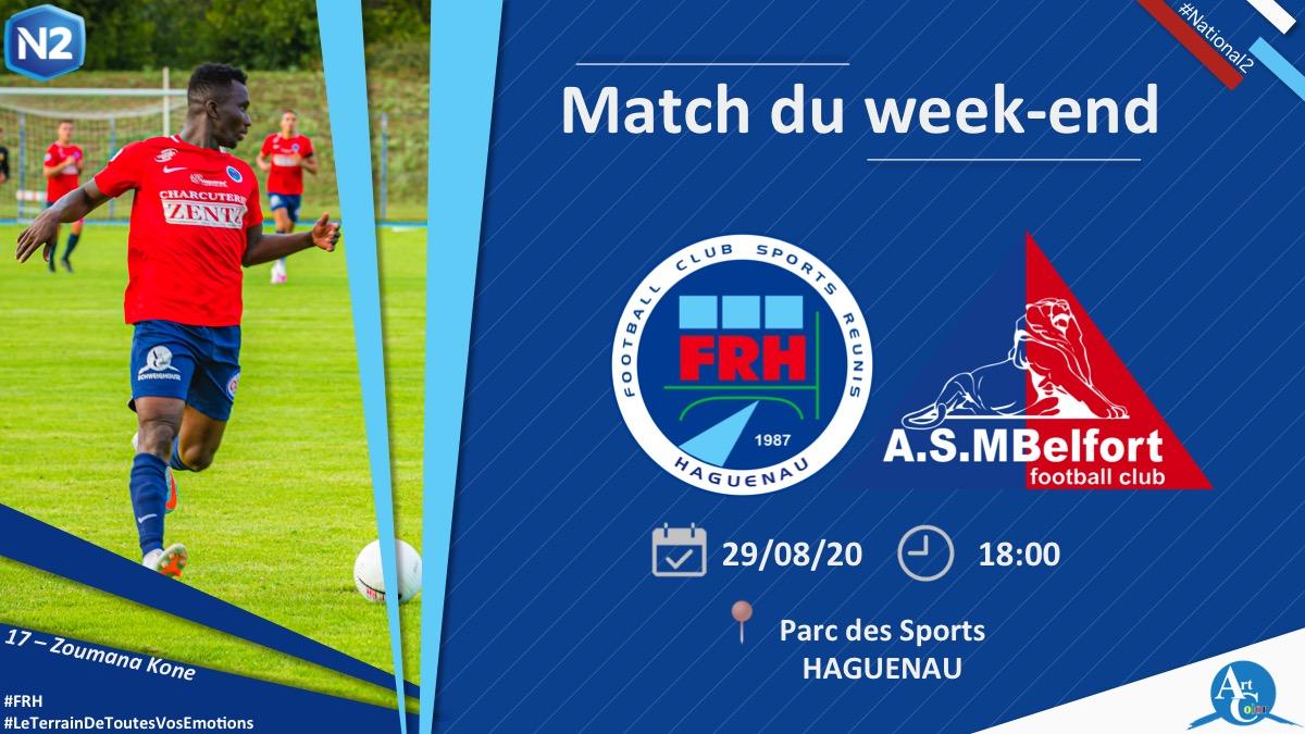 Football : FRHaguenau - ASMBelfort (National 2)