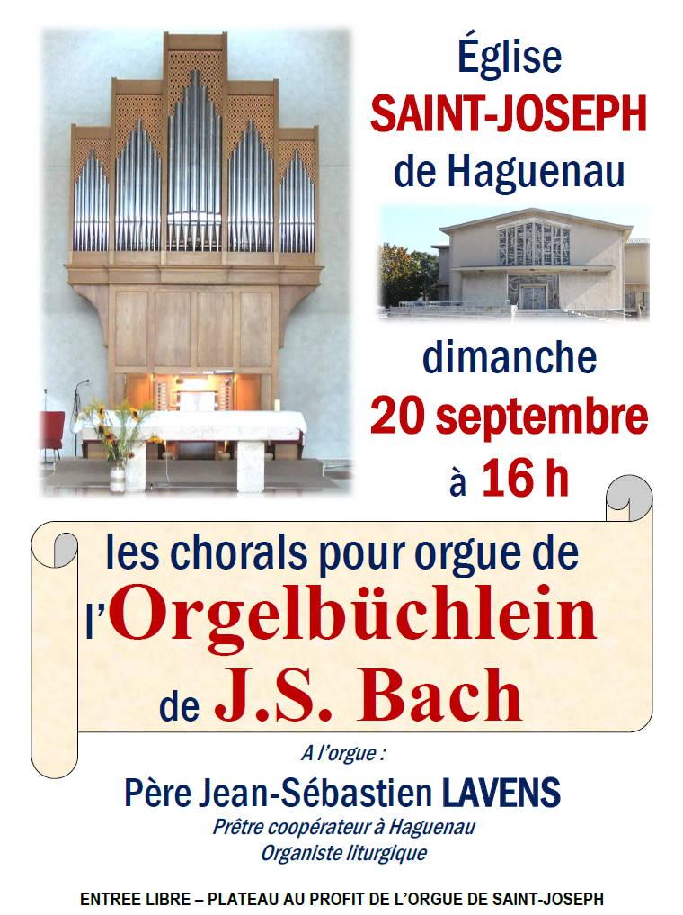 Concert d'orgue : les chorals de l'Orgelbüchlein, de J.S. Bach