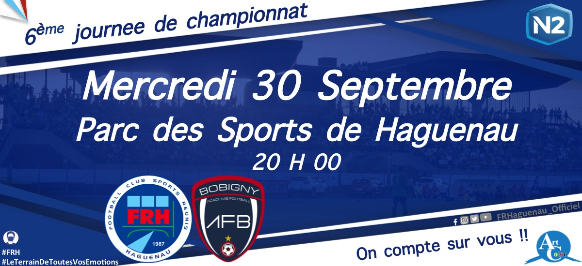 Football : FR Haguenau - AF Bobigny (National 2)