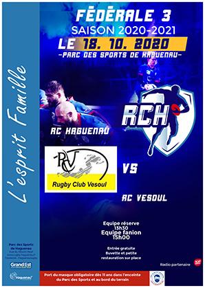 Rugby Fédérale 3 – RC Haguenau / RC Vesoul