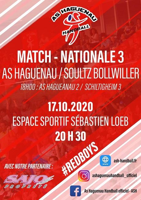 Match de Handball Nationale 3 - AS Haguenau - Soultz