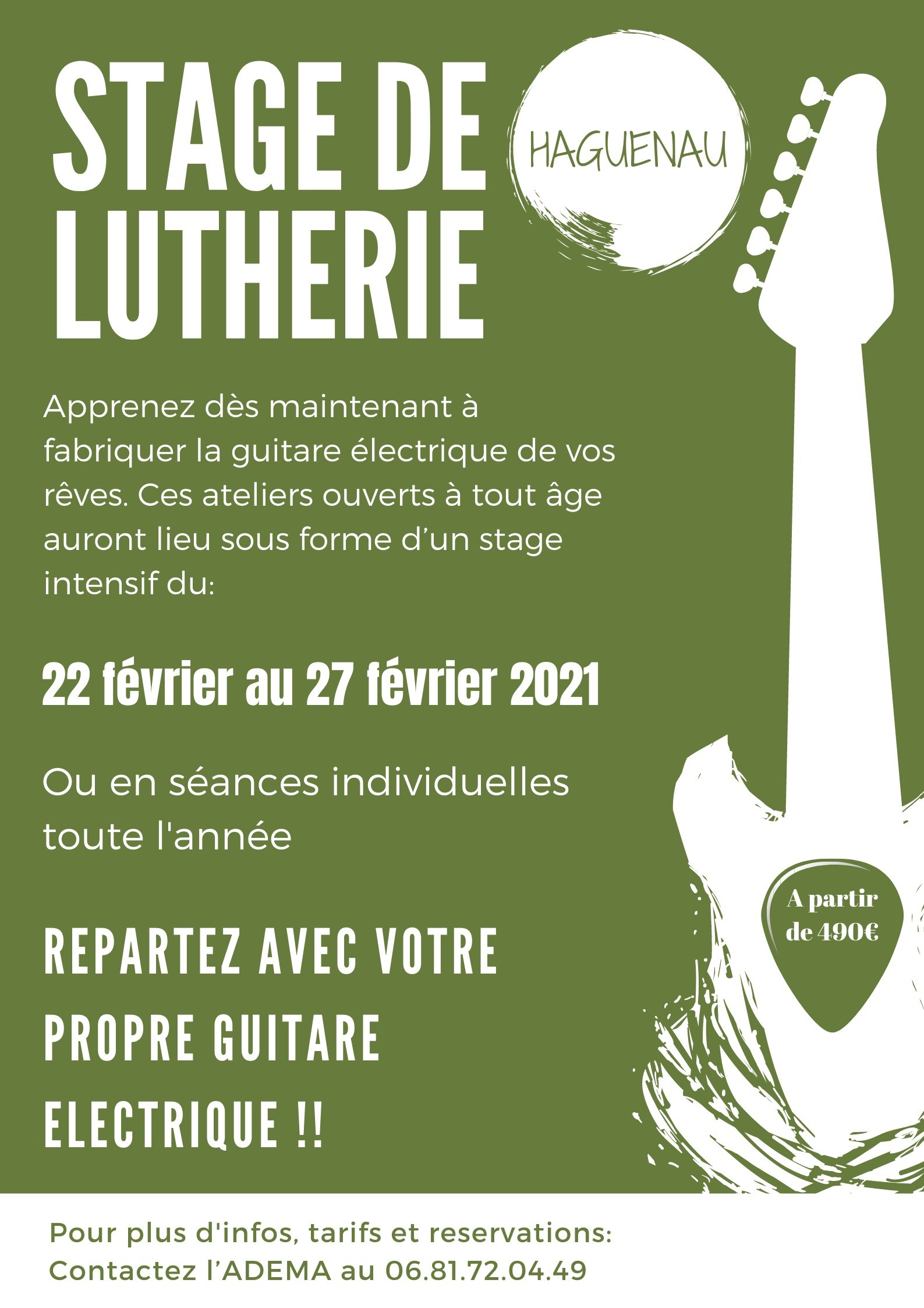Stage de lutherie