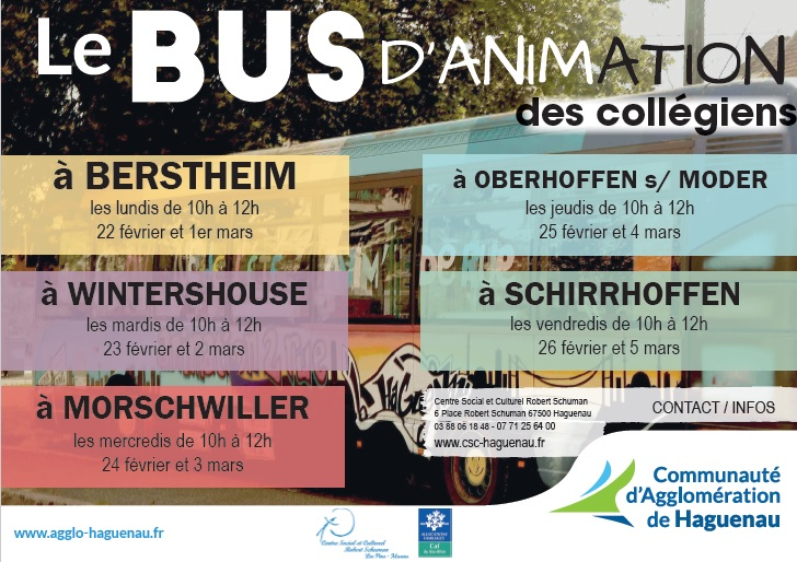 Le bus d'animations des collégiens