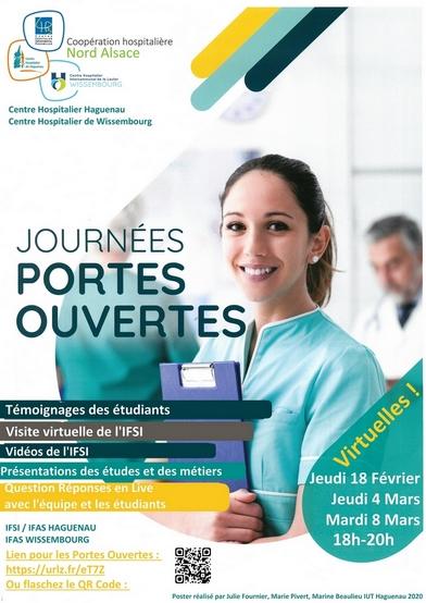 Portes Ouvertes virtuelles de l'IFSI/IFAS Haguenau Wissembourg