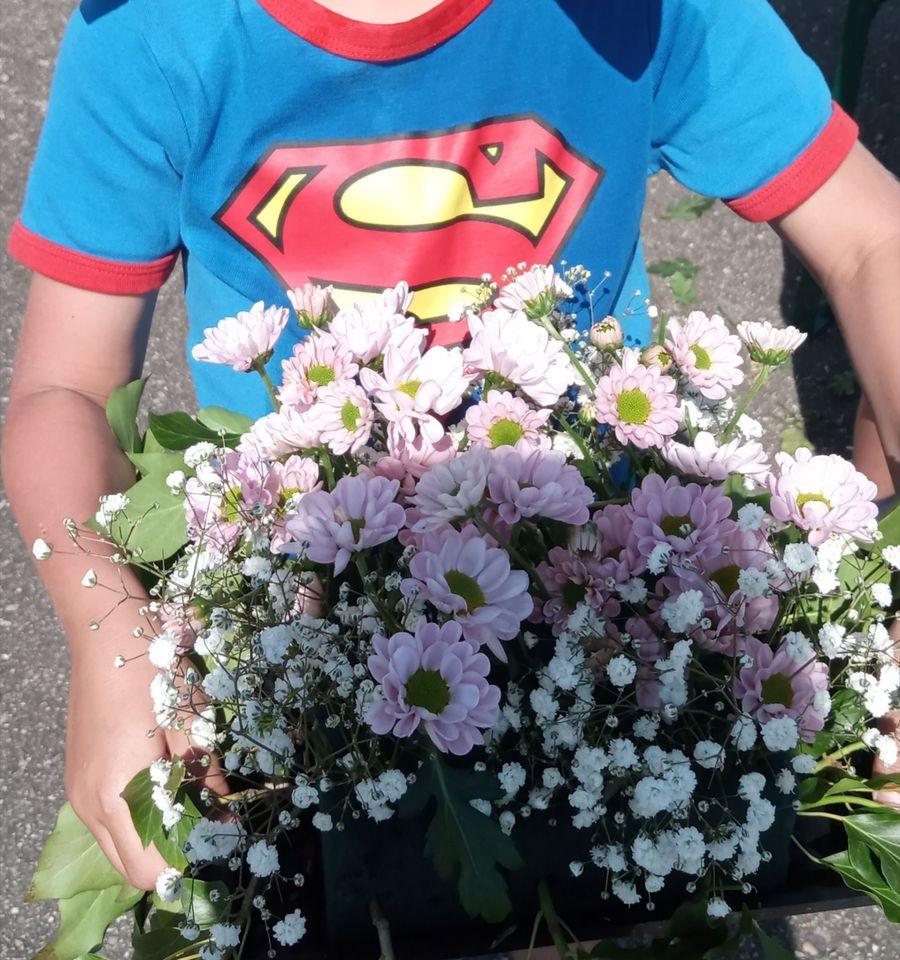 art floral duo parent enfant