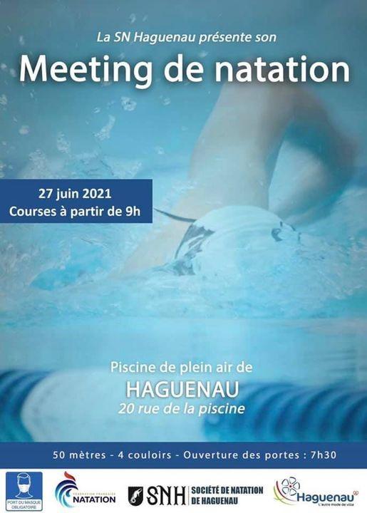 Meeting de natation course de la SNH