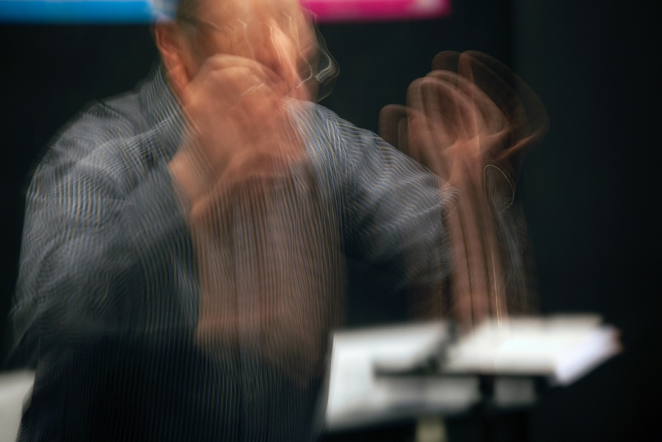 Le geste du chef d'orchestre