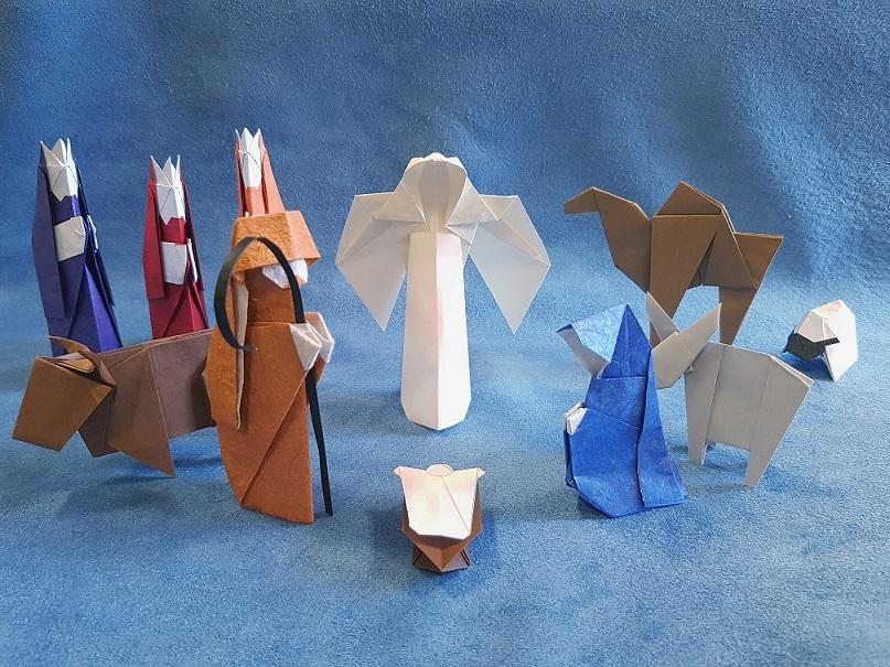 Crèche en origami