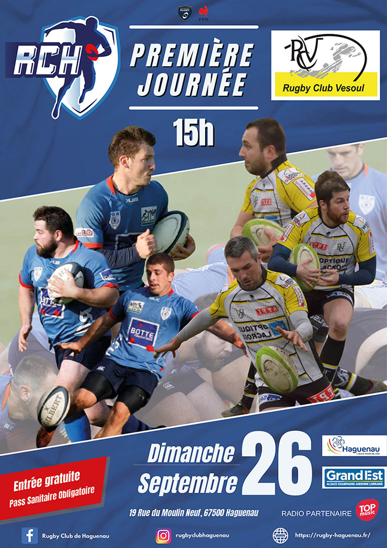 Rugby Club Haguenau Reçoit le Rugby Club Vesoul
