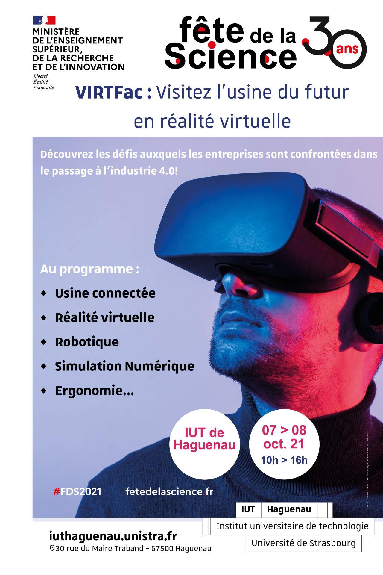 Fête de la Science - Visite : VIRTFac