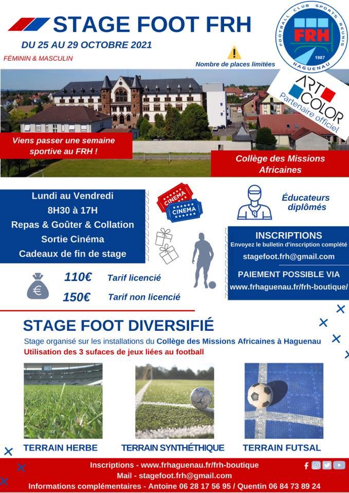 Stage football du FR Haguenau