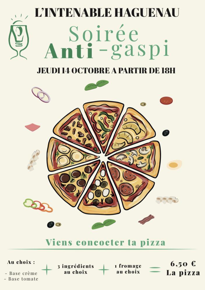 Soirée Anti-Gaspi : viens concocter ta pizza