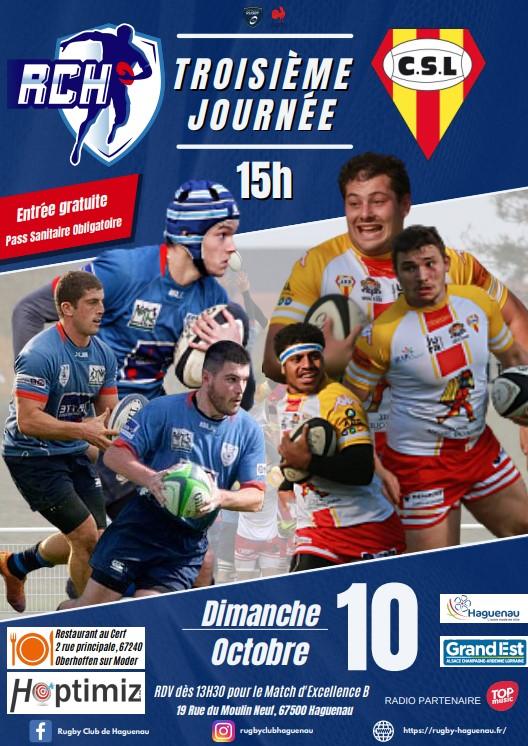 Rugby Club Haguenau Reçoit le Club Sportif Ledonien (Lons le Saunier)